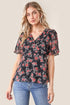 Garden Grove Floral Short Sleeve Blouse